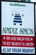 Simple Simon sign