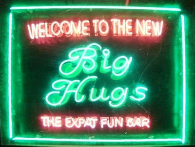 big hugs sign