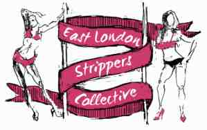 east london strippers collective logo