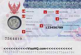 thai tourist visa
