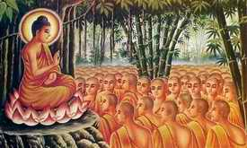 Makha Bucha gathering of monks